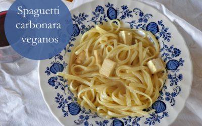 Spaguetti carbonara veganos